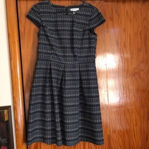 Navy Short Sleeve Dress